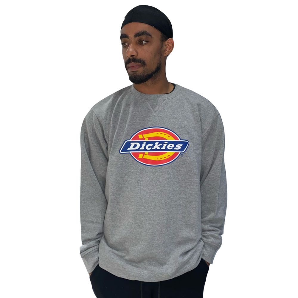 Sweat-col-rond-dickies-gris-chiné