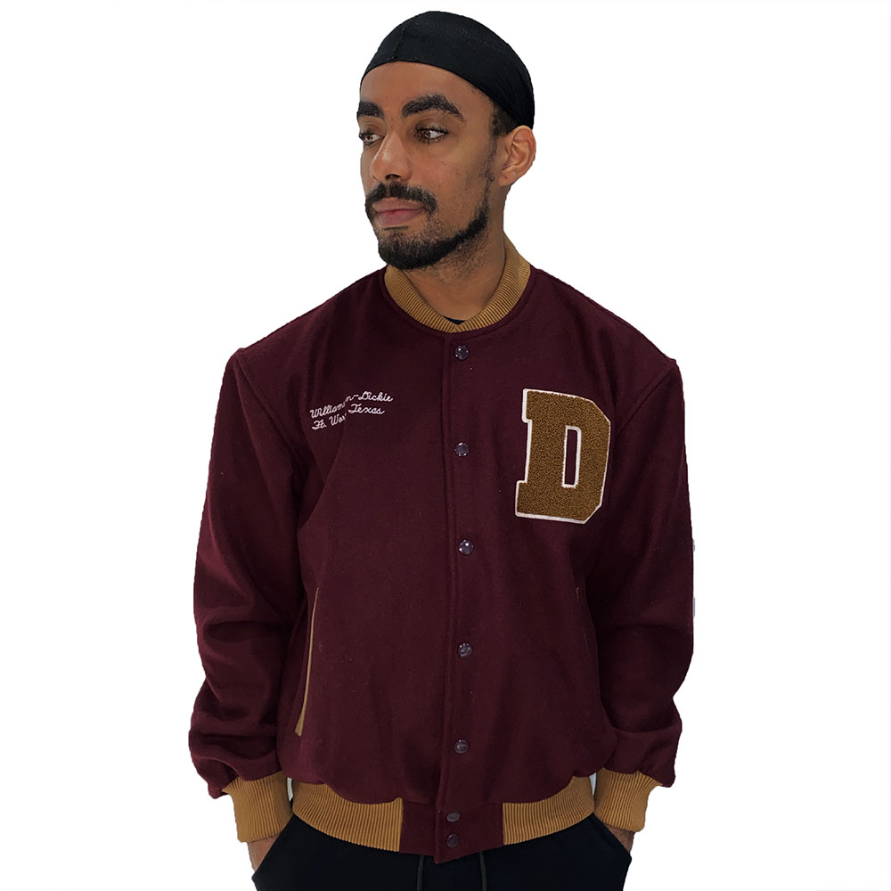 Blouson-football-americain-bordeaux-en-laine-dickies