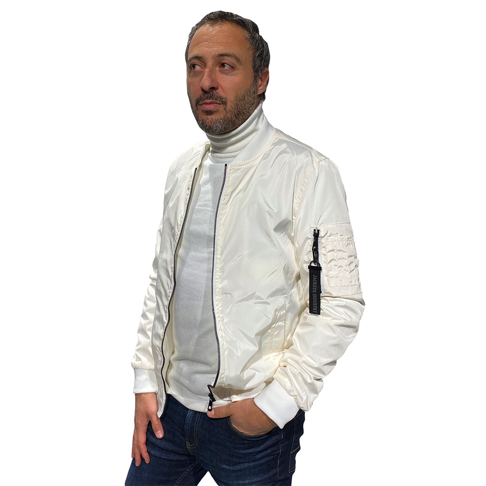 Bomber-Basique-Jacket-Industry-Blanc