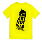 t-shirt wrung neon yellow art distorted
