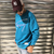 sweat-tommy-jeans-turquoise-signature
