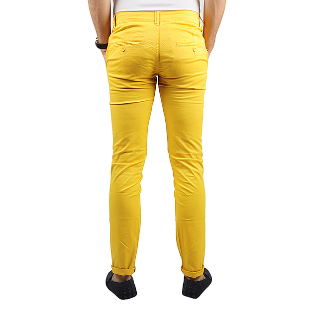 pantalon chino homme jaune lee yo pantalons homme chino insidshop. Black Bedroom Furniture Sets. Home Design Ideas