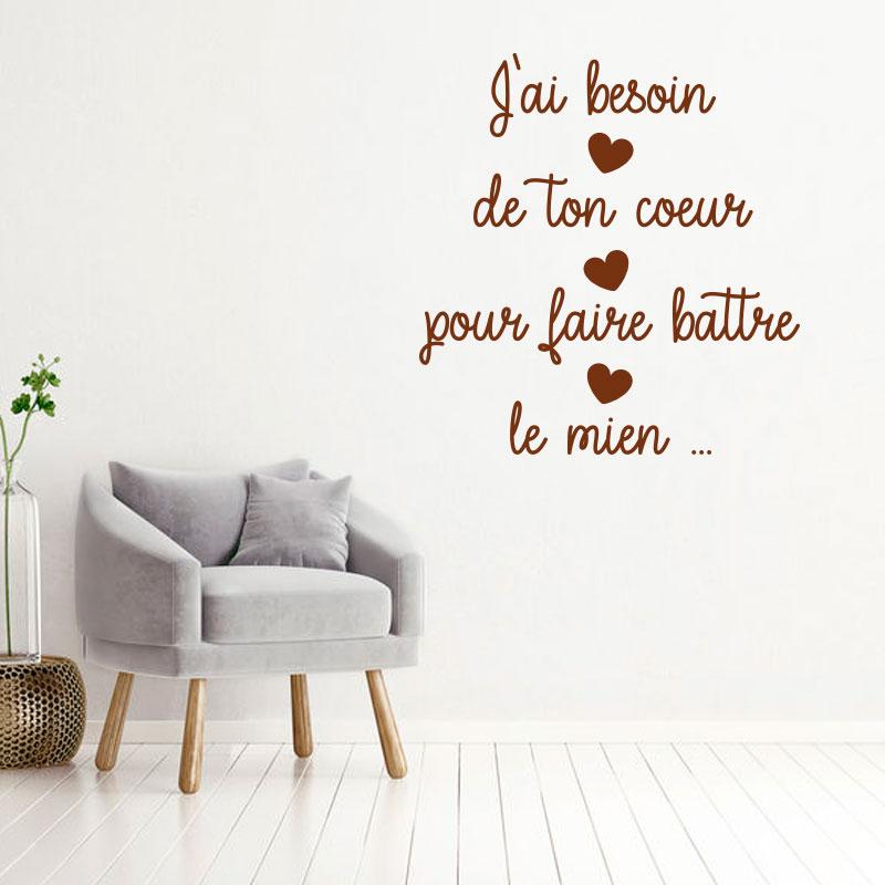 Sticker citation - Besoin de ton coeur