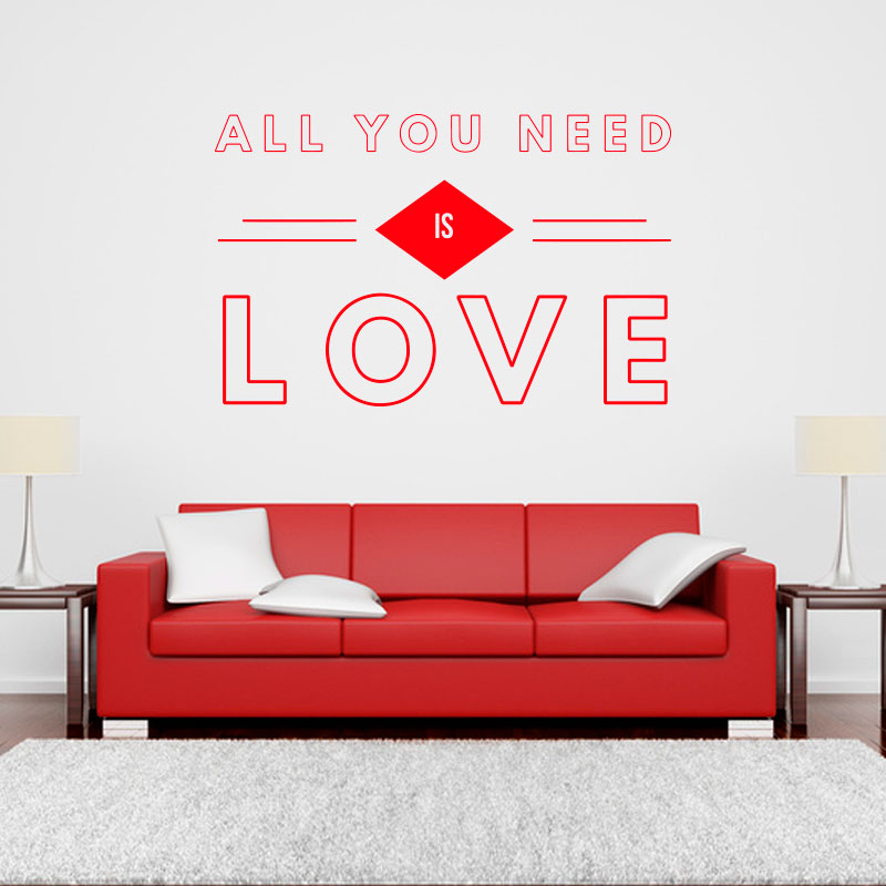 sticker-all-you-need-is-love-rouge