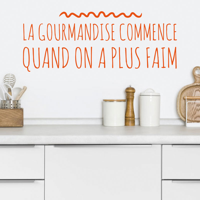 Sticker citation - La gourmandise commence