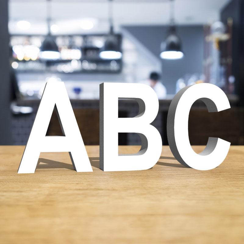 Lettres en PVC - Arial