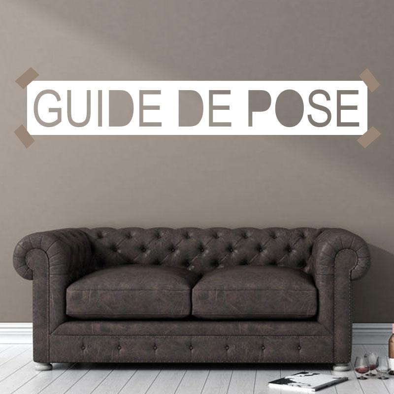 Guide de pose lettrage relief