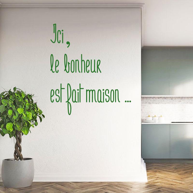 Sticker citation - Bonheur fait maison