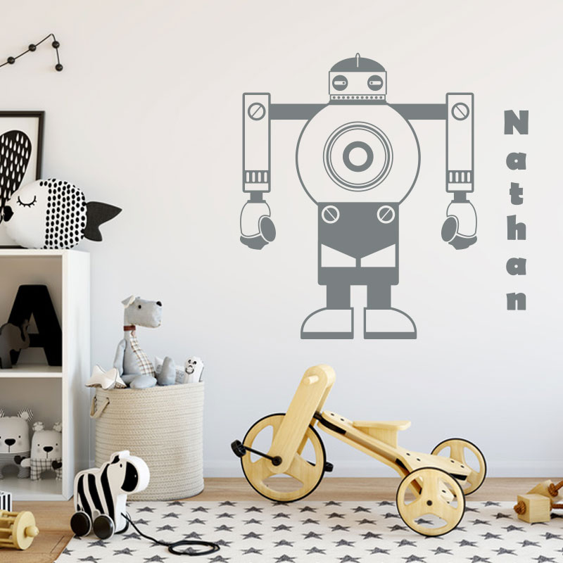 sticker-robot-prenom-gris