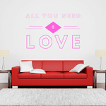 sticker-all-you-need-is-love-rose