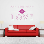 sticker-all-you-need-is-love-violet