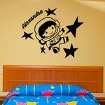 sticker-prenoms-astronaute-noir