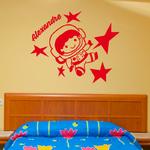 sticker-prenoms-astronaute-rouge