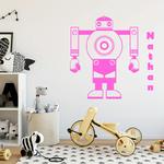 sticker-robot-prenom-rose