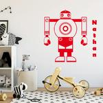 sticker-robot-prenom-rouge