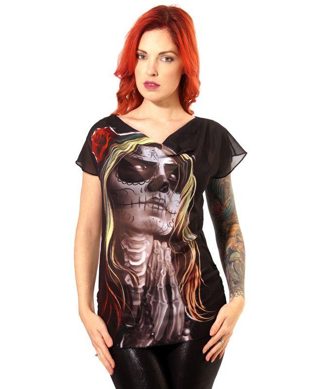 licf006_top-tee-shirt-rockabilly-pin-up-glam-rock-sugar-skull-faith