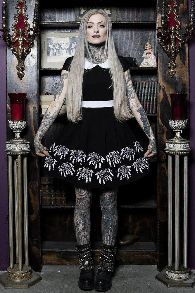 SPDR329_robe-gothique-glam-rock-gothabilly-Lizzie-Creepy-Crawlies