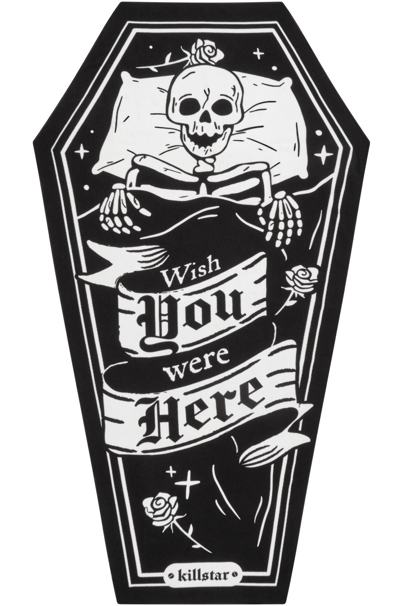 KS03649_serviette-de-plage-bain-gothique-rock-one-wish-coffin