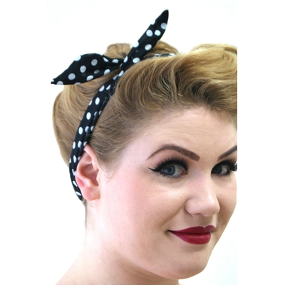 Bandeau Foulard Pin-Up Rétro 50's Rockabilly Banned Pois