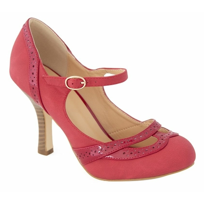 Chaussures Escarpins PinUp Rockabilly Rétro 50's Banned Angel Dust Rouge
