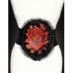regotrozr_ceinture_gothique_victorien_elastique_medaillon_fleur