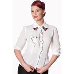 bnbl1308wht_chemisier-pin-up-retro-50-s-rockabilly-glam-chic-snow-bird-chat-kitty