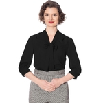 bnbl14030blk_chemisier-pin-up-retro-50-s-rockabilly-glam-chic-perfect-pussybow-noir