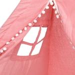 Tipi Fille   Rose avec Pompons détails