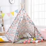 1-35-1-65m-Portable-enfants-tentes-jouer-maison-enfants-coton-toile-indien-jouer-tente-Wigwam