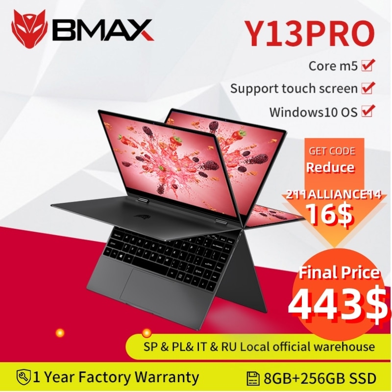 BMAX-Y13-Pro-360-ordinateur-portable-13-3-pouces-ordinateur-portable-Intel-Core-m5-6Y54-Windows
