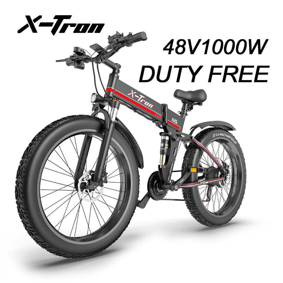 X-tron-H26-v-lo-lectrique-1000W-e-v-lo-hommes-neige-VTT-26-gros-pneu