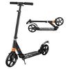 Enfants-adultes-Kick-Scooter-pliable-2-roues-large-pont-arri-re-garde-boue-frein-pr-cision