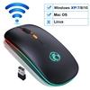 Souris-sans-fil-Bluetooth-RGB-souris-Rechargeable-ordinateur-sans-fil-silencieux-Mause-LED-r-tro-clair