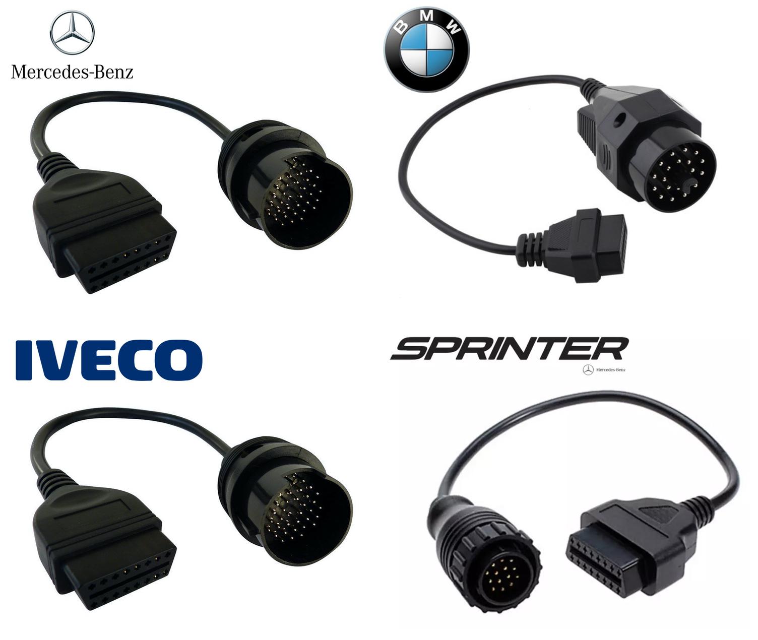 Pack de 4 adaptateurs OBD