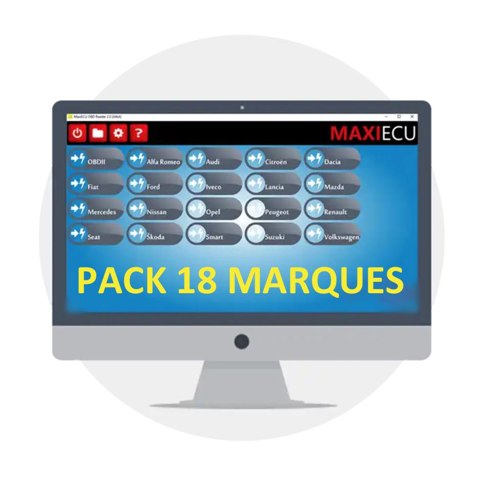 Pack 18 marques pour MaxiECU 2