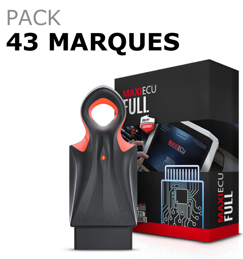 MaxiECU 2 - Pack Pro 43 Marques