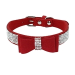 collier-noeud-strass-chat-velour-mignon-couleurs-sympa-animal-pets-cats-rose-mode