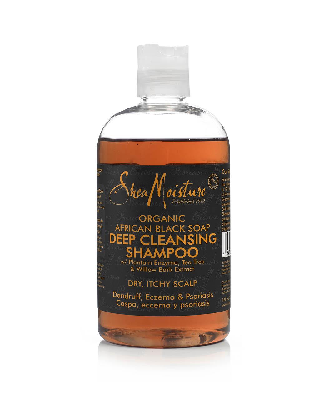 Shea Moisture African Black Soap organic Shampoing de nettoyage en profondeur 355ml