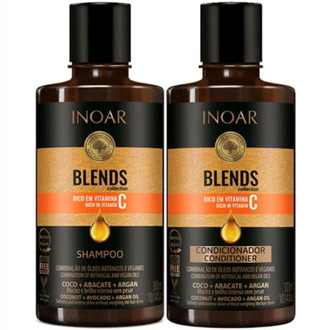 kit inoar blends shampoing conditioner masque