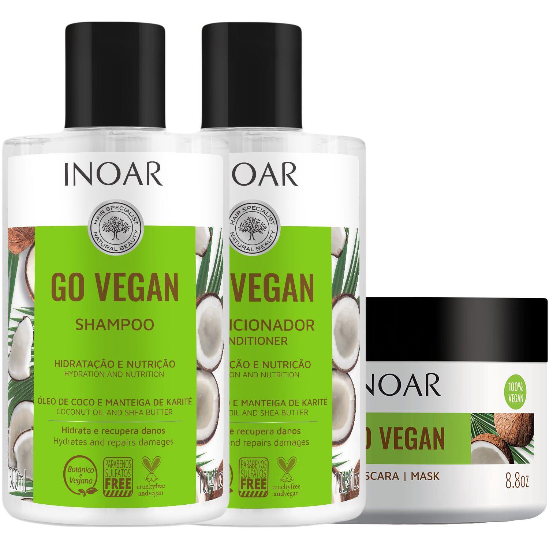 Go Vegan Shampoing et conditioner masque hydratant