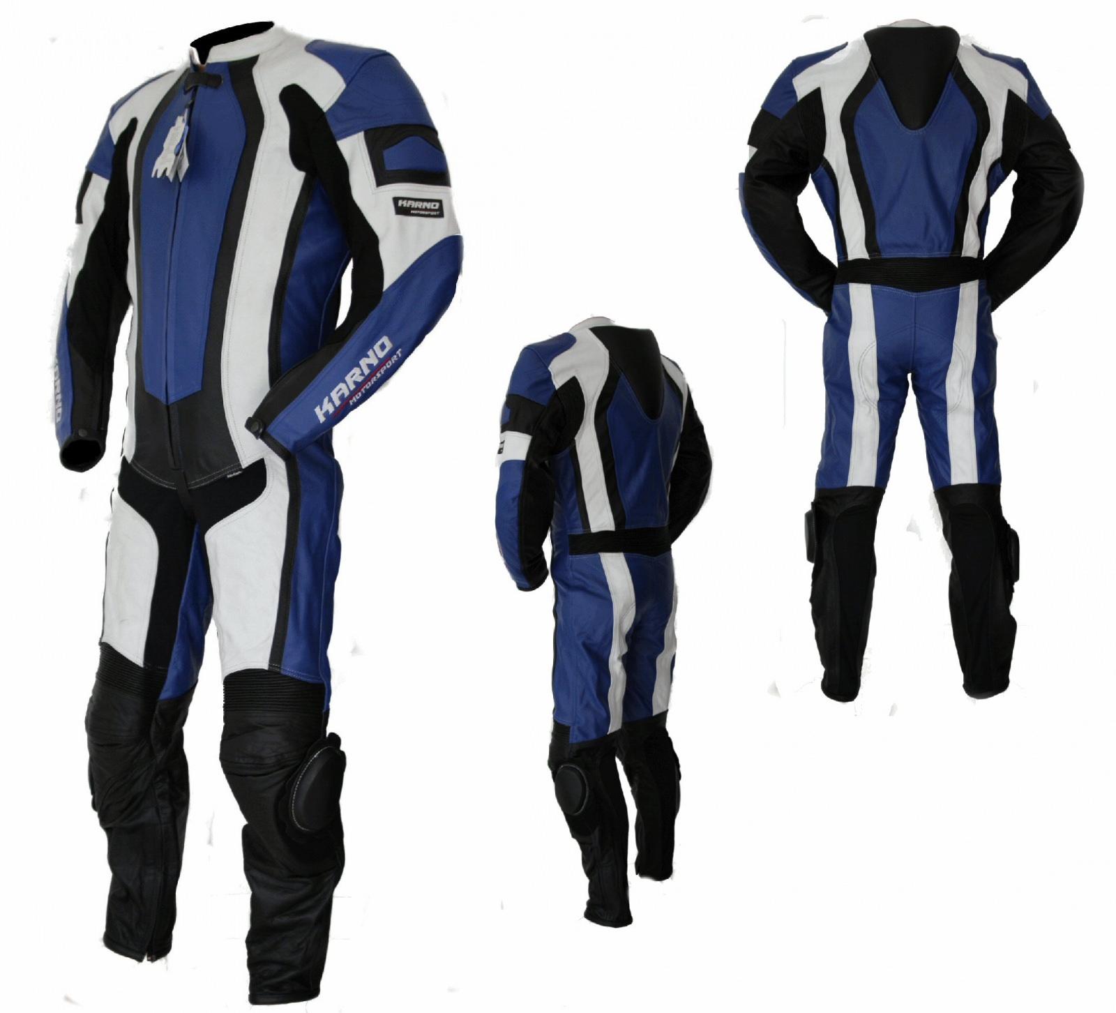 Kc206_X3 combinaison moto piste bleue