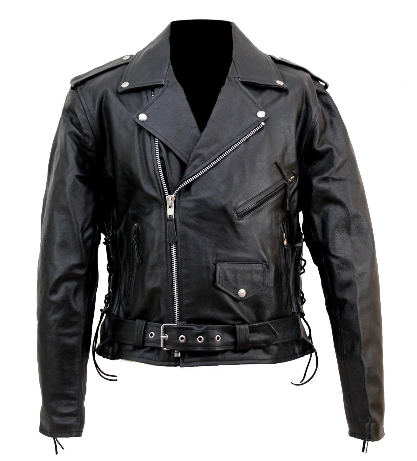 veste moto noir homme