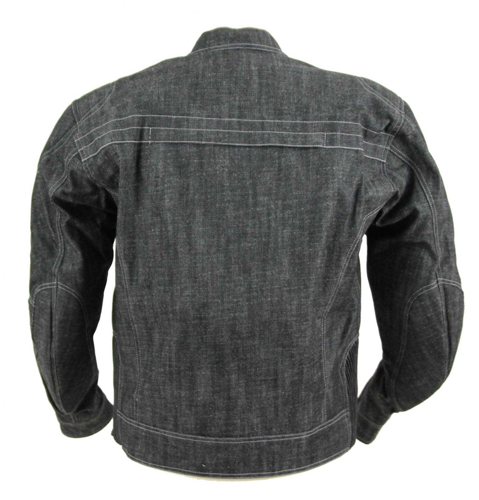 kt006 blouson moto en jean 39 s denim noir gris karno protections moto amovibles. Black Bedroom Furniture Sets. Home Design Ideas