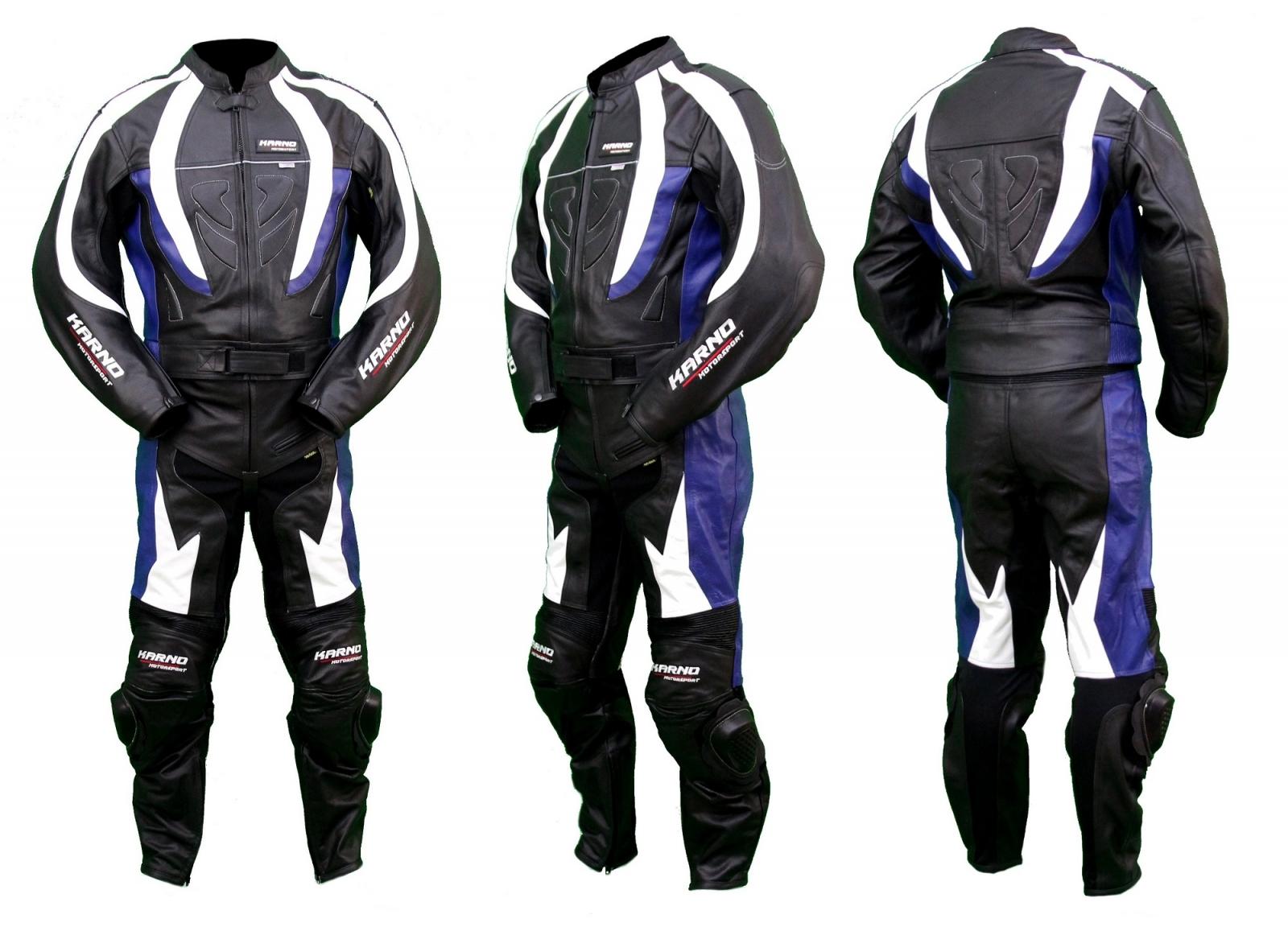 Kc202_ Combinaison moto bleue