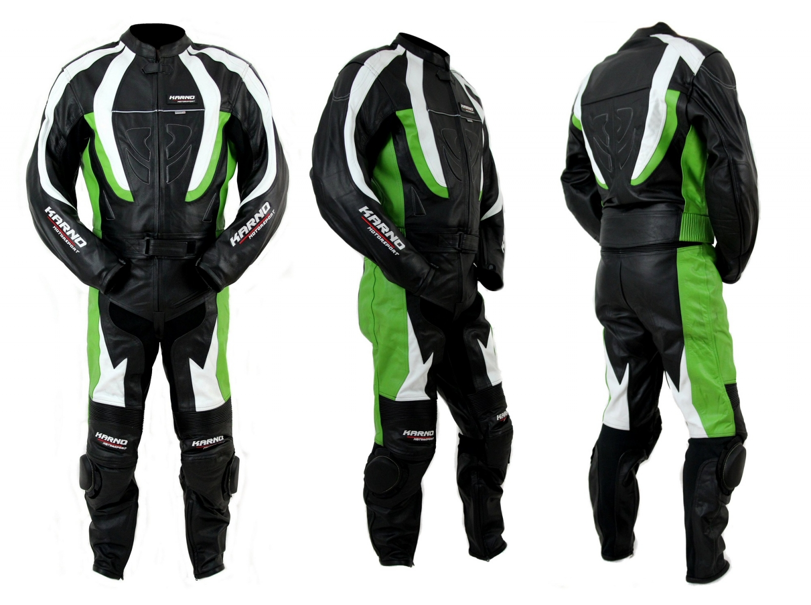 kc200 combinaison moto karno cuir vert green storm race 2 parties vetement moto homme. Black Bedroom Furniture Sets. Home Design Ideas
