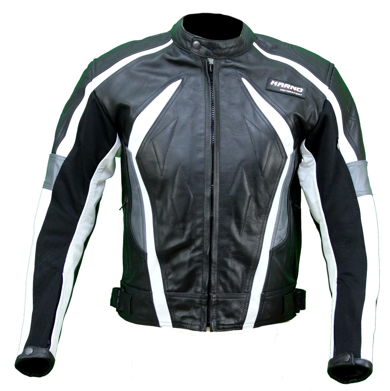 kc022 blouson veste cuir moto quad noir karno motorsport. Black Bedroom Furniture Sets. Home Design Ideas