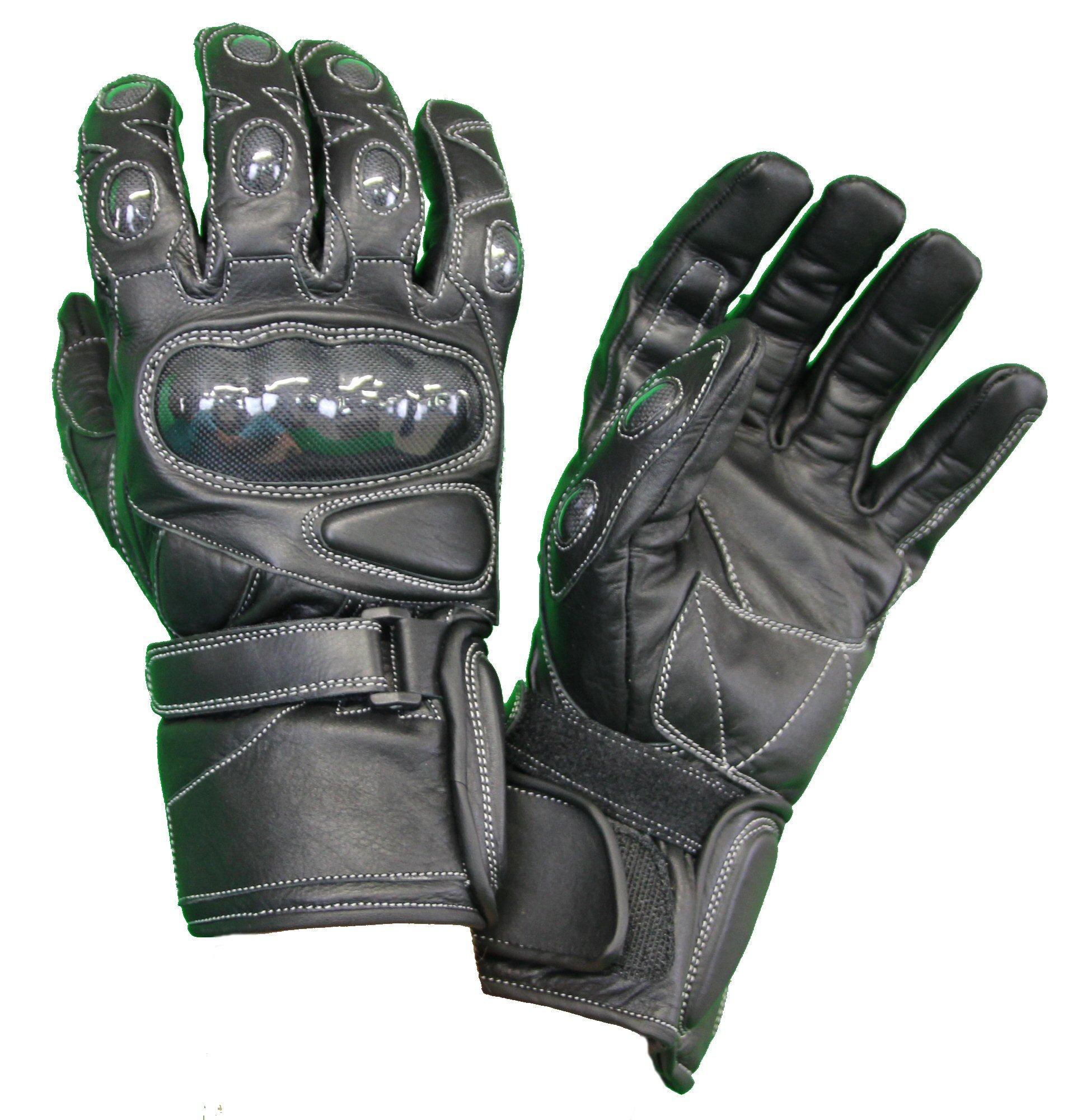 Kc401_1 gants moto noirs