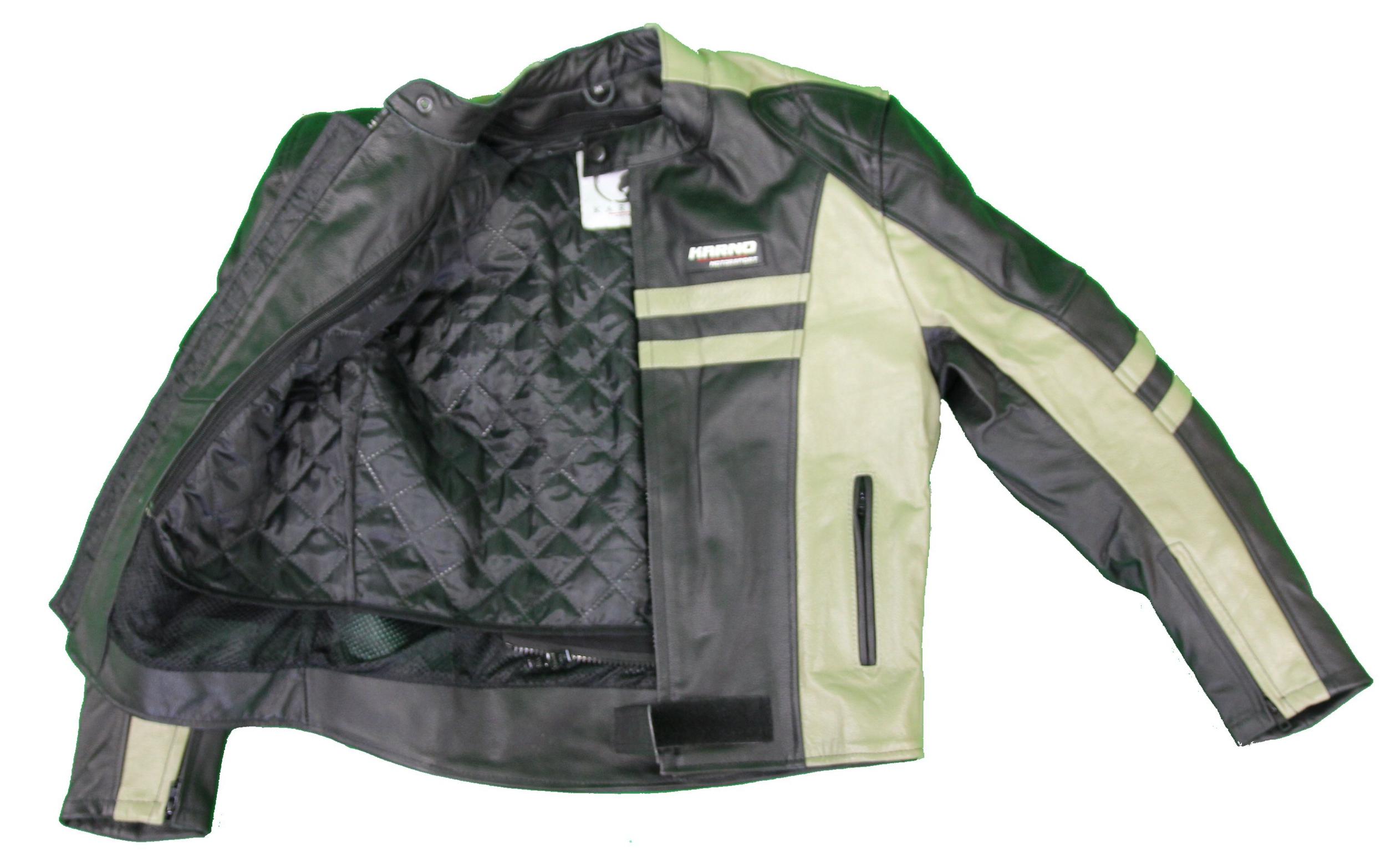 kc032 blouson moto cuir cafe racer vintage noir karno motorsport ebay. Black Bedroom Furniture Sets. Home Design Ideas