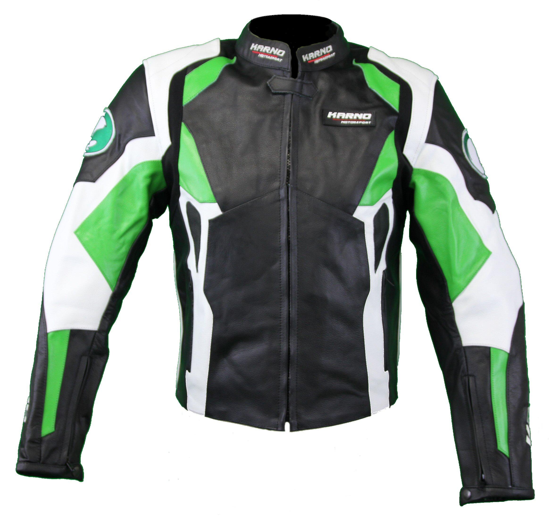 kc029 blouson veste cuir moto karno vert phantom doubl hiver amovible. Black Bedroom Furniture Sets. Home Design Ideas