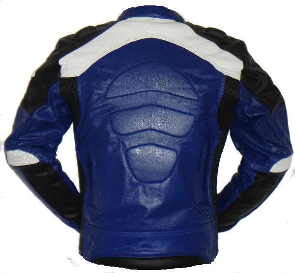 Blouson moto homme bleu